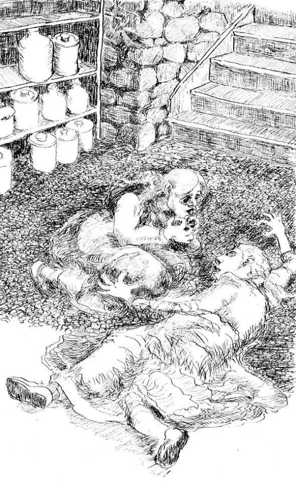 One of Lawrence Nickle's illustrations for the collector's edition of David Nickle's Eutopia.